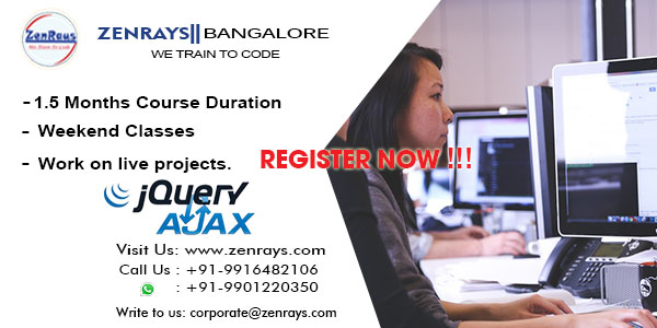 jQuery Ajax training in Bangalore