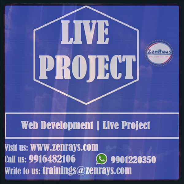 Web Development Real Time Live Project Training In Bangalore